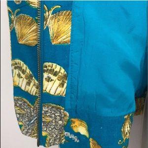 georgiou Jackets & Coats - Vintage funky 80s status print silk jacket 6
